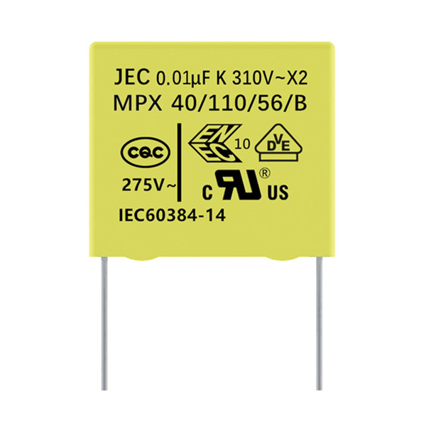 JEC安规X2电容275V 0.01uF 10nF 10000pF 103K 脚距10mm